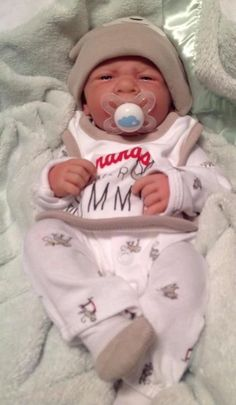 BANANAS OVER MOMMY!REBORN LIFE LIKE BERENGUER PREEMIE BOY WITH PACIFIER/BOTTLE
