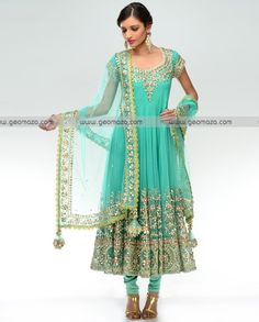 women's pakistani suits | Stylish Bridal Anarkali Suits 2012 9 100x100 Anarkali Eid Dresses ...