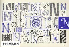 Lettering for Stitchers design ideas 5