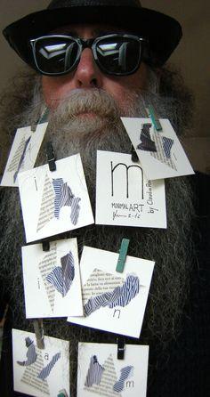 BEARD GALLERY - Opere di Claudio Romeo installate sulla mia barba (Galleria Pensile)