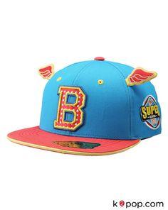 8e760a764f2 K2POP - STAR IT ITEM SUPER BOUND FITTED CAP 203 (BL). Isa D · Flat Brims  SnapBack  Hats