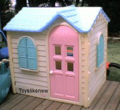 Totally had this playhouse in the backyard!
