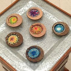 painted crochet art