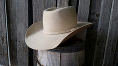 a9440a78339 Custom made cowboy hat Brick crease bone in color. staker custom hats