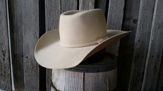Custom made cowboy hat Brick crease bone in color 36570fc7c1c5