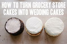 How To: A Trio of Grocery Store Wedding Cakes A Practical Wedding: Cheap Wedding Cakes, Diy Wedding Food, Diy Wedding Cake, Diy Wedding Bouquet, Budget Wedding, Wedding Tips, Trendy Wedding, Wedding Planning, Wedding Day