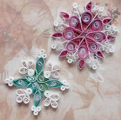 snowflakes - quilled