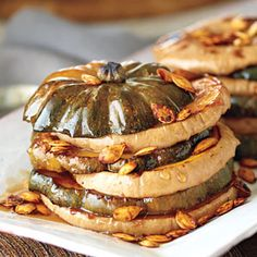 Maple Ginger Squash Tower