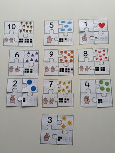 eerste leerjaar - getallen - puzzel - rekenen - getalbeeld babylearninggames #preschoollearningactivities #preschoolathome #preschoolthemes #preschoolmath #educationalactivities #mathgames #classroomactivities #mathnumbers