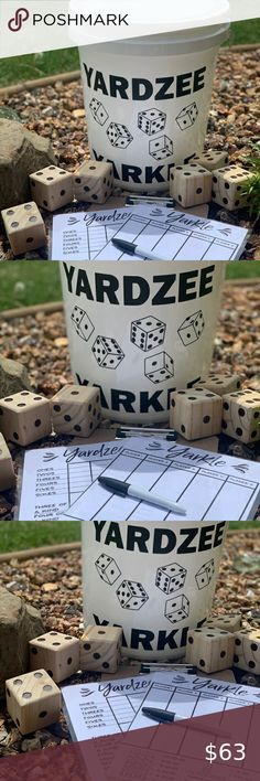 Yardzee & Farkle Giant Outdoor Yard Dice Game Set Who doesn't love a good game o...#dice #doesnt #farkle #game #giant #good #love #outdoor #set #yard #yardzee Yard Yahtzee, Yard Dice, Dice Games, Hydroponic Gardening, Dry Erase Markers, Grad Parties, Types Of Plants, Small Gardens, Growing Plants