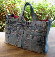 manualidades para regalar - bolso vaquero - reciclar jeans
