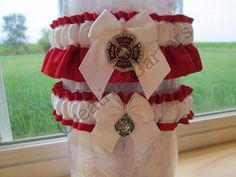 Hey, I found this really awesome Etsy listing at https://www.etsy.com/listing/202789641/handcrafted-fire-fighter-garter-set-with