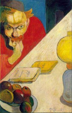 Desde el otro lado del cuadro: Portrait of Meyer de Haan by lamplight - Paul Gaug...