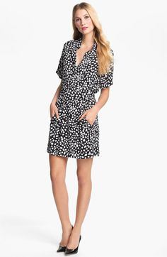 Love this! Diane von Furstenberg 'Pharo' Stretch Silk Shirtdress | Nordstrom