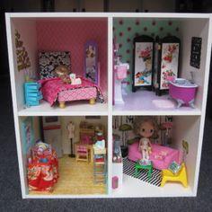 DIY Dollhouse from an Ikea Bookshelf