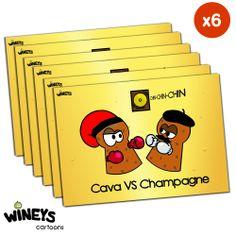 Postal Cava Vs Champagne ¿quién ganará? chinchin!!