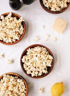 Lemon, parmesan and black pepper popcorn - cookieandkate.com