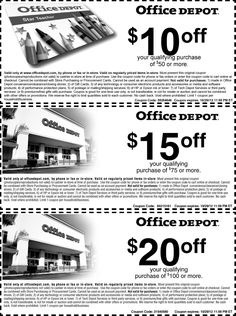 $10 off $50 and more at Office Depot, or online via checkout promo 55264646 coupon via The Coupons App