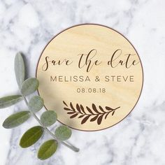 Personalized save the date magnet - 60pcs