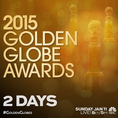 The party of the year is only TWO days away! Join us for the #GoldenGlobes, Sunday at 8pm ET. It's gonna be a blast!
