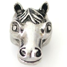 1 PC 18MM Horse Animal Chunk Pop Charm Zinc Silver Candy Snap Popper kb8827 CC1238 Diameter Size: 18MM Material: Zinc Alloy