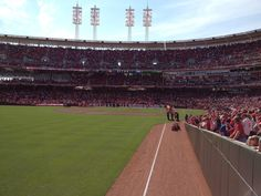 Cincinnati Reds opening day 2012. It doesn't get much better than this!