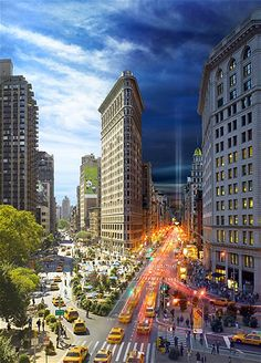 Image: The Flatiron, New York (© Stephen Wilkes/Caters News)