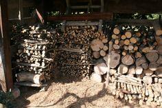 Un tas de bois, qui abrite une faune nombreuse, (c) René Guiraud, SNHF. René Guiraud, lauréat du concours Jardiner Autrement 2011.