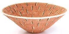 African Basket - Makalani Bowl - 11.5 Inches Across - #14594