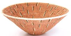 African Basket - Makalani Bowl - 11.5 Inches Across - #14594