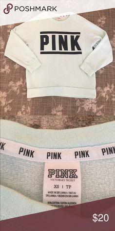 30% Off Bundles! PINK Victoria Secret Comfy Shirt Green and black PINK sweatshirt. Size XS PINK Victoria's Secret Tops Sweatshirts & Hoodies