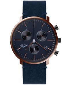 From their debut collection, the Paulin C200A Chronograph in Rose Gold and Midnight Blue is an understated and minimalist take on the classic dress watch. With an impeccable attention to detail, these watches have all been designed and assembled in their Partick workshop in Glasgow, Scotland.