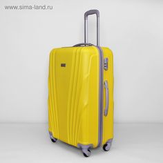 """Чемодан большой, 28"""", 105 л, 4 колеса, кодовый замок, цвет жёлтый"""