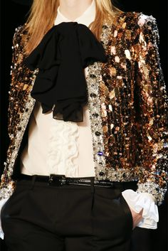 Black & Gold, Saint Laurent, Spring-Summer 2013, Lady, Woman, Girl, Fashion, Glamour, Style, Luxury, Chic