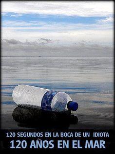 el dia a dia.Consumir agua en termos es la mejor opción para no contaminar con las botellas.