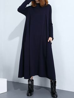 O-Newe Elegant Warm Knit Casual Maxi Dress For Women