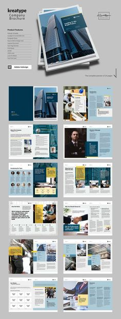 The corporate brochure, clean and creative template. This layout is suitable for any project purpose, very easy to use, edit and customize to your needs --- Layout Design, Broucher Design, Buch Design, Web Design Company, Flyer Design, Company Profile Design Templates, Company Brochure Design, Web Layout, Design Ideas