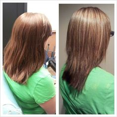 different type of hair styles before after partial highlights honey bright 6681