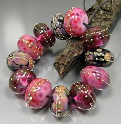HANDMADE LAMPWORK GLASS Bead Set Donna Millard ♥ by DonnaMillard, $45.00