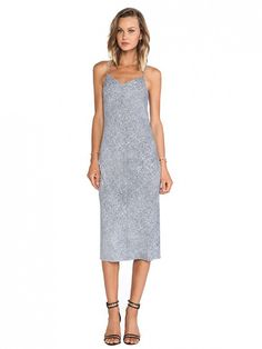 Just add a cozy oversized sweater and ankle boots for fall // T by Alexander Wang Silk Georgette Slip Dress