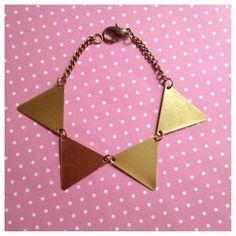 Geometric Bunting Bracelet on Etsy, £6.00