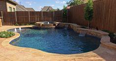 Artesian Custom Pools 9191 Kyser Way Frisco, TX 75033 www.artes… - All For Garden Natural Swimming Pools, Swimming Pools Backyard, Swimming Pool Designs, Pool Landscaping, Natural Pools, Lap Pools, Indoor Pools, Pool Decks, Inground Pool Designs