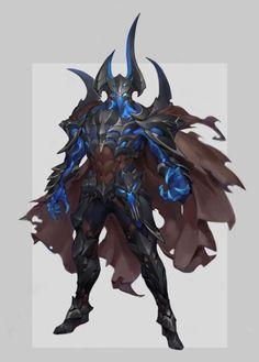Thunder Elemental by Gouf Gouf on ArtStation. Fantasy Character Design, Character Design Inspiration, Character Concept, Character Art, Fantasy Armor, Dark Fantasy Art, Fantasy Weapons, Fantasy Monster, Monster Art