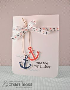 the Lawn Fawn blog: May Arts Week Day 5. This would be cute if I made a boat bottom & had the anchors falling off the side.