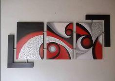 Risultati immagini per cuadros para sala Acrylic Canvas, Canvas Wall Art, Decorative Household Items, Traditional Paint, Modern Art, Contemporary Art, Panel Art, Easy Paintings, Texture Painting