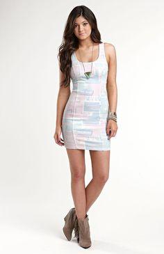 PacSun: K Denim Bodycon Zip Back Dress