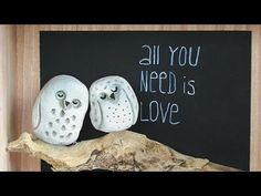 "DIY Beton zum Kneten Viva Decor , Eulenbild ""all you need is love"" - YouTube"
