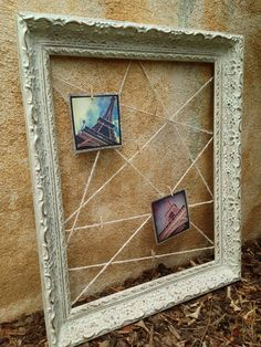 All you need is the frame, string, and clothespins. Really on a budget? Use a frame you've already got around the house!