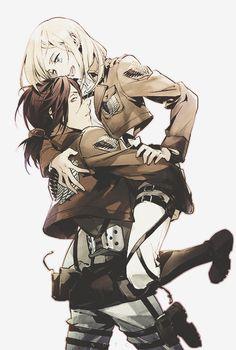 Ymir & Crista. Attack on titan. 進撃の巨人. Shingeki no Kyojin. Атака титанов. #SNK. #AOT