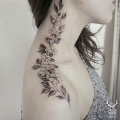 Wandering Floral Tattoo by Zihwa